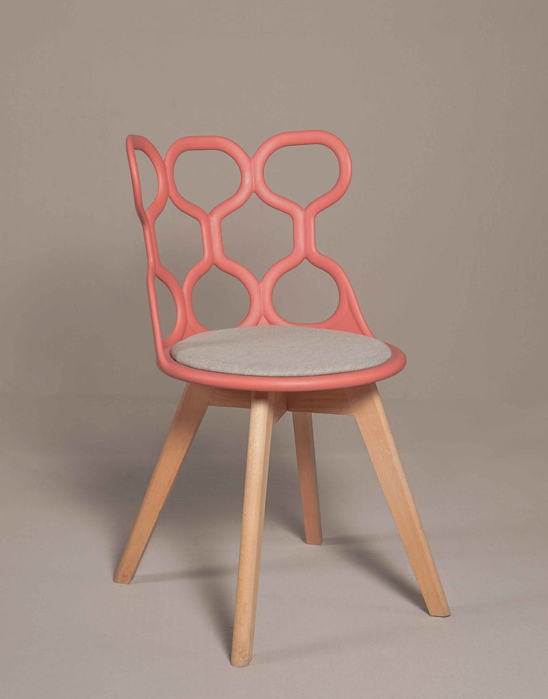 Phi-Phi Café Chair with Wooden Legs