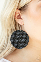 Load image into Gallery viewer, Plaited Plains - Black - Paparazzi Accessories