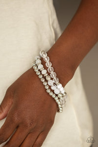 Sugary Shimmer - White - Paparazzi Accessories