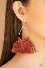 Load image into Gallery viewer, Tassel Treat - Brown - Paparazzi Accessories