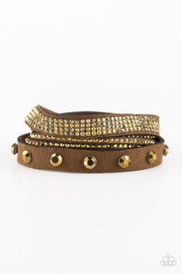 Totally Rockable - Brass - Paparazzi Accessories