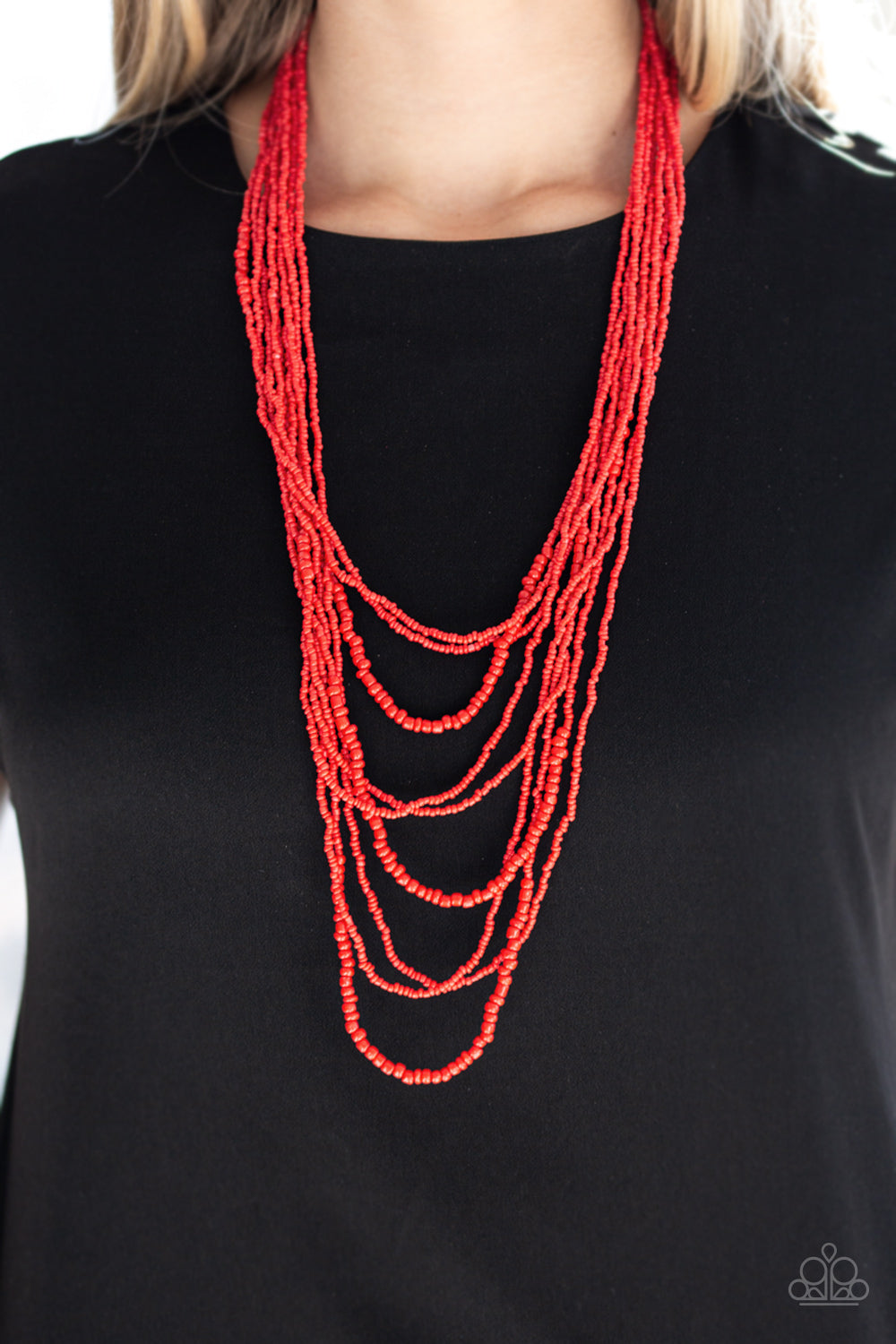 Totally Tonga - Red - Paparazzi Accessories