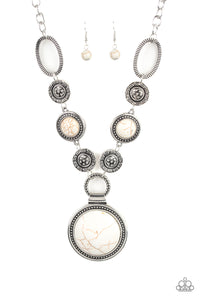 Sedona Drama - White - Paparazzi Accessories