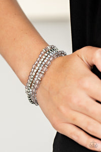 Crystal Crush - Silver - Paparazzi Accessories