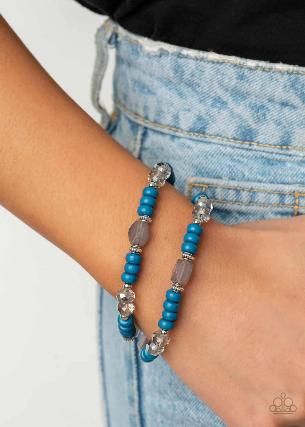 Delightfully Dainty - Blue - Paparazzi Accessories