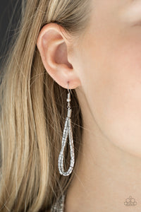 Knotted Knockout - Silver - Paparazzi Accessories
