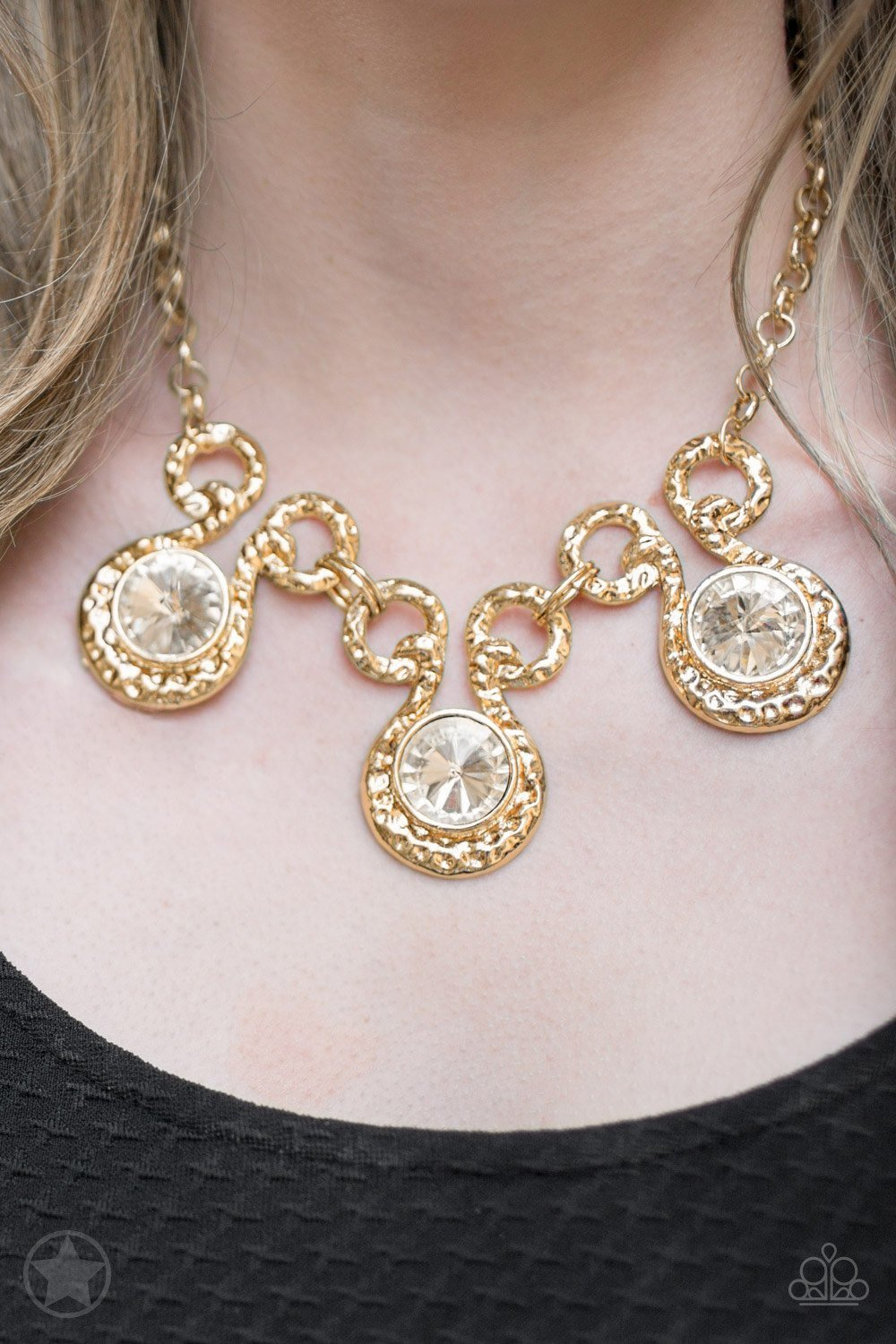 Hypnotized Necklace Set-Gold