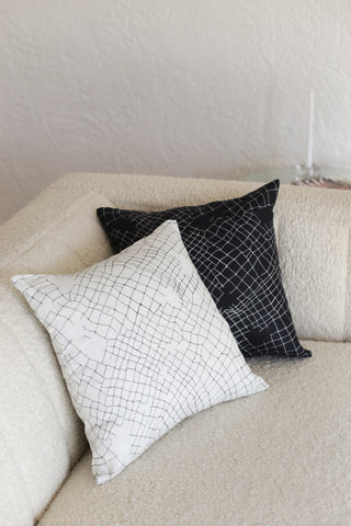 black net small cushion - PENNEY + BENNETT