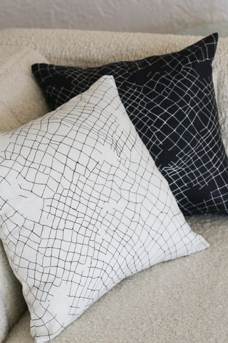 white net small cushion - PENNEY + BENNETT