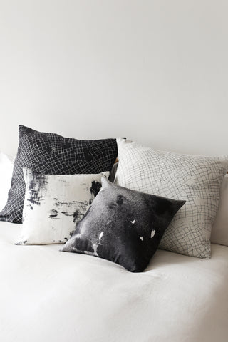 white net large cushion - PENNEY + BENNETT