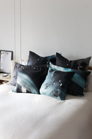 black moonstone large cushion