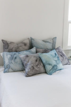 grey water large cushion