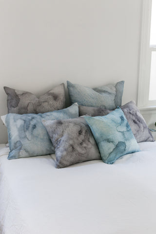 grey water large cushion - PENNEY + BENNETT