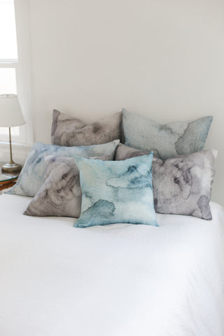 blue water large cushion - PENNEY + BENNETT