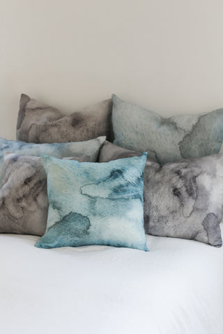 blue water small cushion - PENNEY + BENNETT