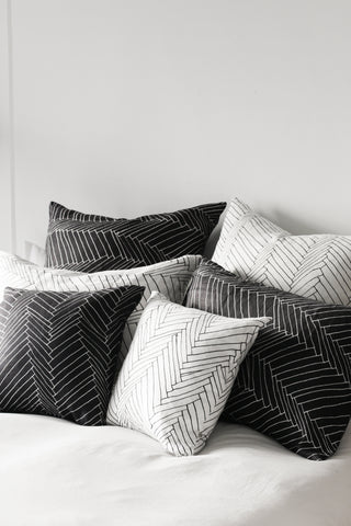 black thatch large cushion - PENNEY + BENNETT