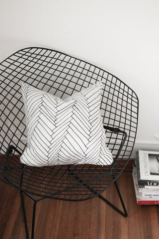 white thatch small cushion - PENNEY + BENNETT