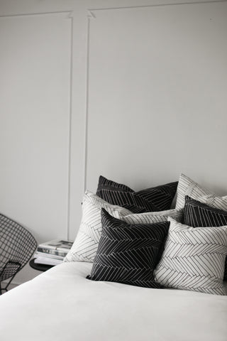 black thatch small cushion - PENNEY + BENNETT