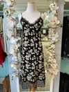 Micheal MK Floral slip Dress with Lace Trim Size Large