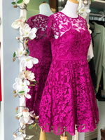 Ted Baker Caree Floral Lace Dress size 4 (large)