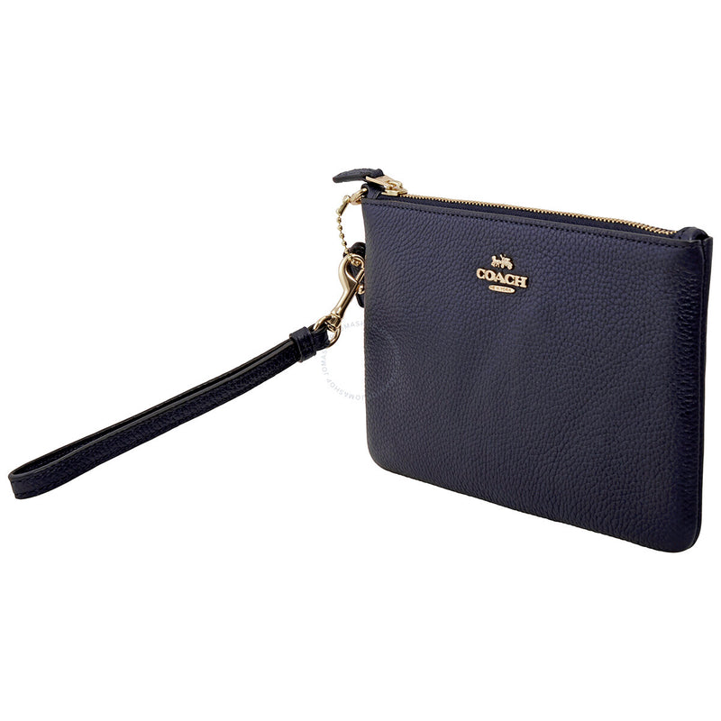 Coach pebble leather wallet -Navy