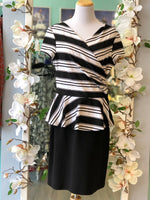 Joseph Ribkoff black and white dress size 14