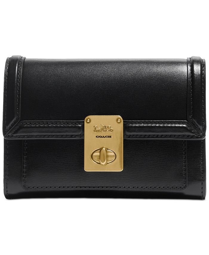 Coach black hutton wallet