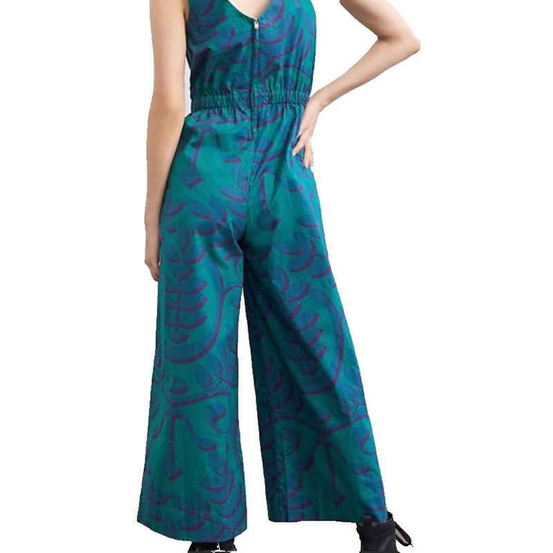 Anthropologie NWT wide leg cotton jumpsuit size 2