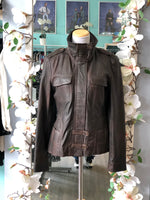 Danier brown leather jacket size M