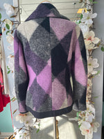 Spoom purple wool coat large