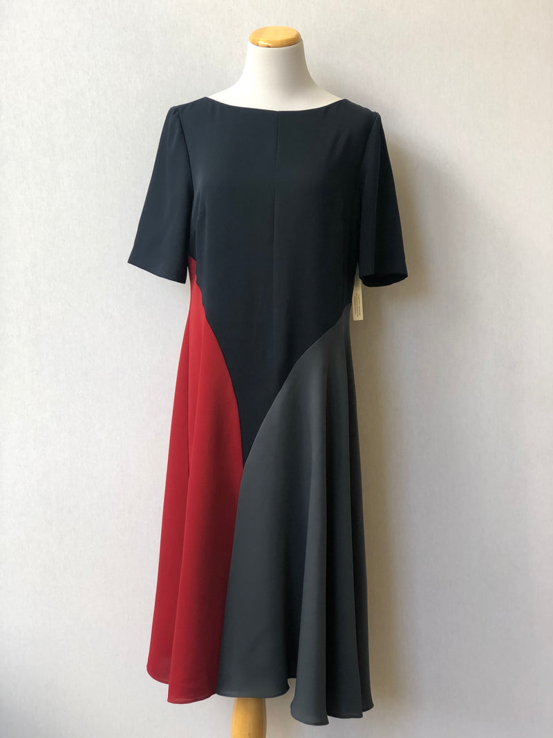 NWT Anthropology Colourblocked dress midi size 10
