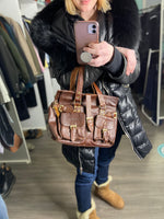 Cosplay vintage leather bag