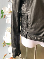True Religion vegan leather jacket size S