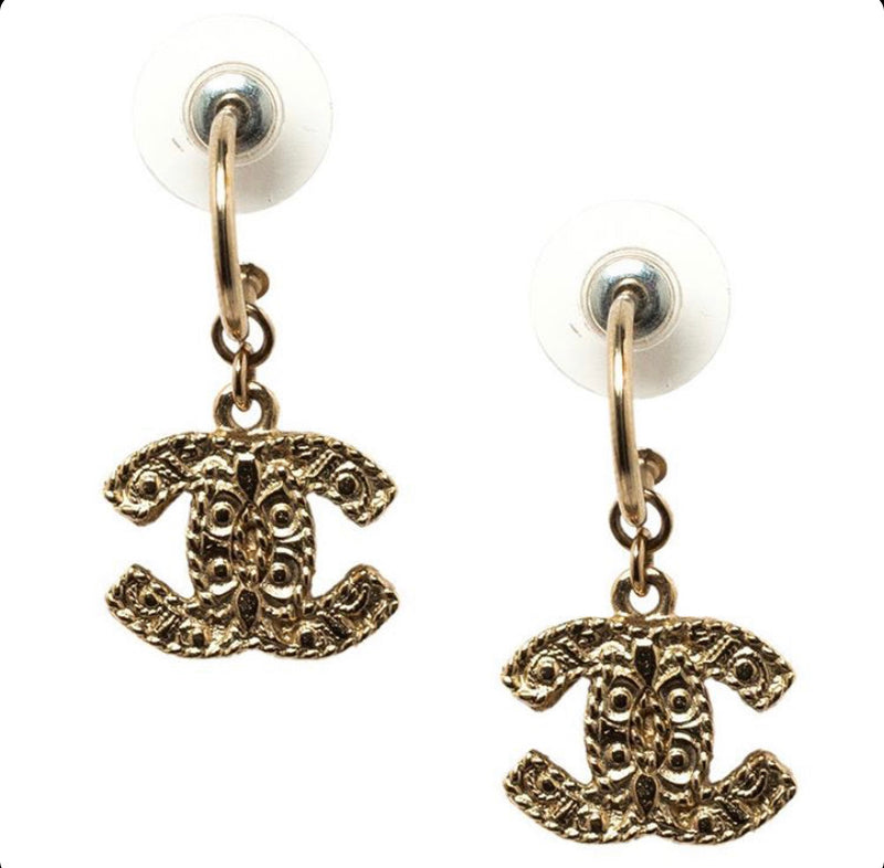 Chanel gold drop earrings