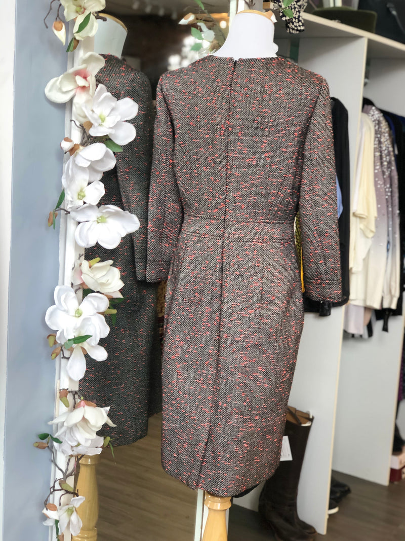 J. Crew grey and pink dress size 8.