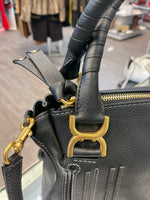 Chloé Marcie leather handbag in black