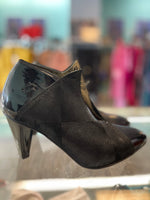Fly London black heel/booties 7
