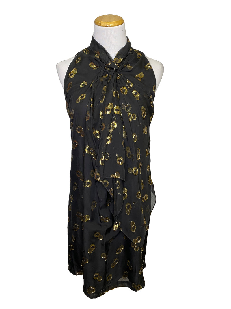 DVF for Barney silk Morana dress black size 6