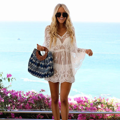 Lace Swimsuit Bikini Cover Up