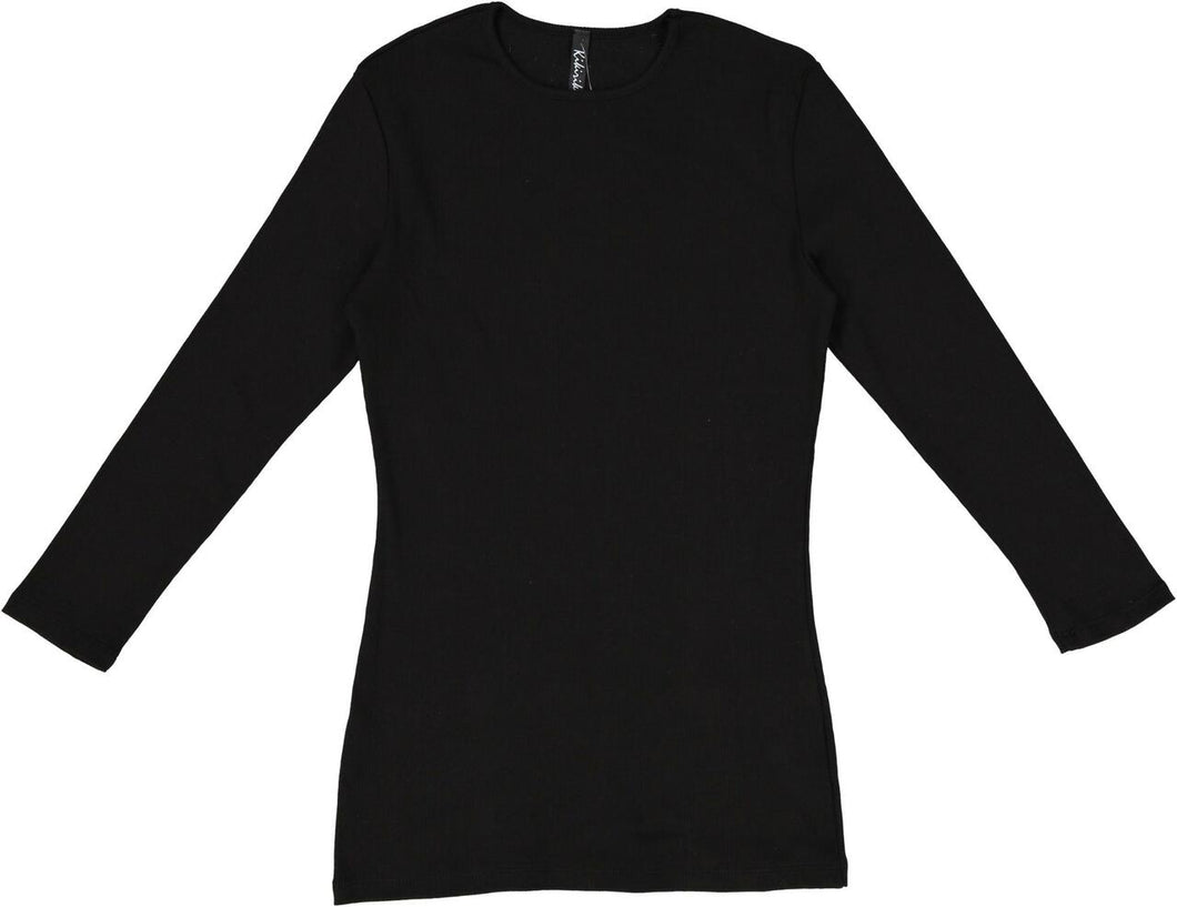 KIKI RIKI RIBBED 3/4 SLEEVE T-SHIRT