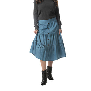 "WF COTTON TIERED SKIRT 29"" - Head Over Heels - Israel - WEAR & FLAIR - מכף רגל ועד ראש"