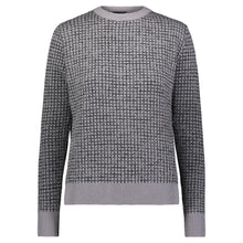 Load image into Gallery viewer, DA GREY SWEATER WITH SHIMMER GRID