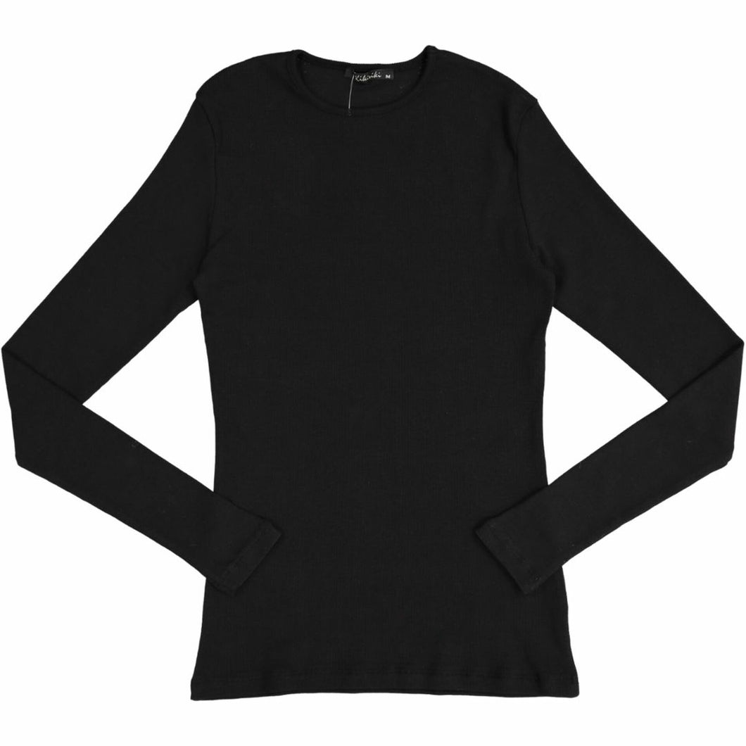 KIKI RIKI RIBBED LONG SLEEVE T-SHIRT