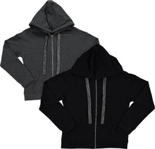 Load image into Gallery viewer, BGDK WOMENS EMBELLISHED COTTON HOODIE