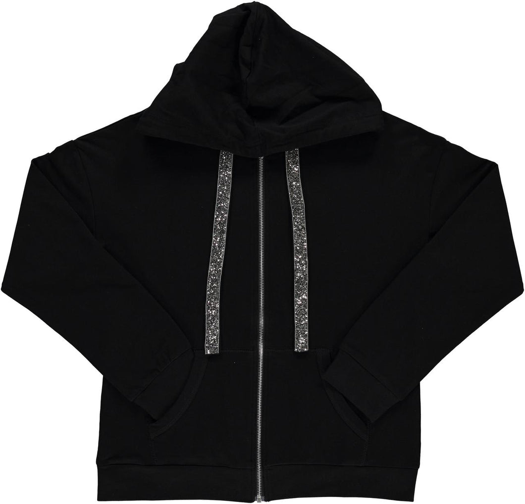BGDK WOMENS EMBELLISHED COTTON HOODIE