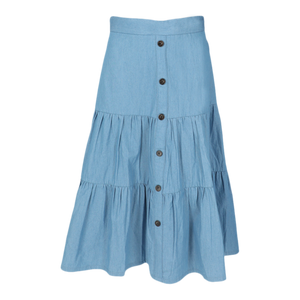"WF COTTON TIERED SKIRT 26"" - Head Over Heels - Israel - WEAR & FLAIR - מכף רגל ועד ראש"