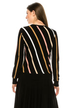 Load image into Gallery viewer, YAL V MULTI COLOR STRIPE PULLOVER