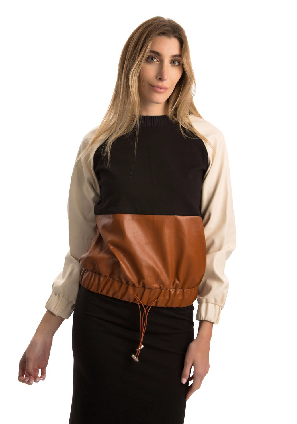 MW LEATHER TOP