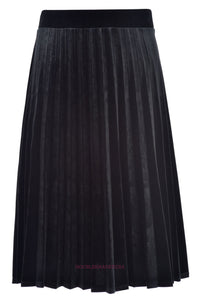 HK LADIES SHORT VELOUR ACORDIAN PLEATED SKIRT - Head Over Heels - Israel - BGDK - מכף רגל ועד ראש