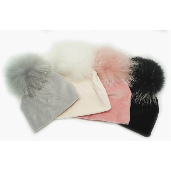 MAX COLORS VELOUR POM POM HAT
